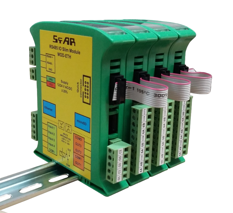 Expansion Modules on Din Rail